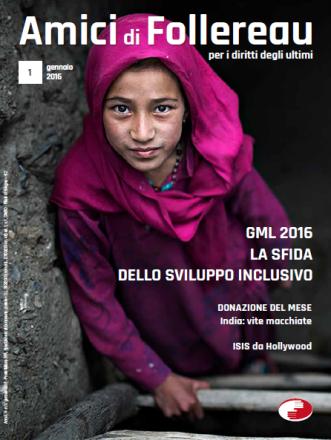 copertinsa della rivista con ragazzina siriana